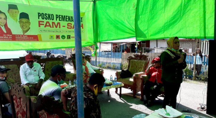 Pasang Foto AHM di Spanduk, Paslon FAM-SAH Di-warning KPU