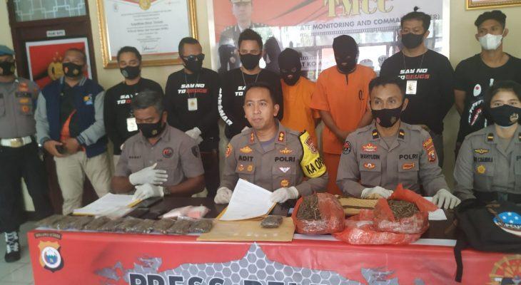 Polres Ternate Ringkus Dua Kurir Narkoba Jaringan Lapas