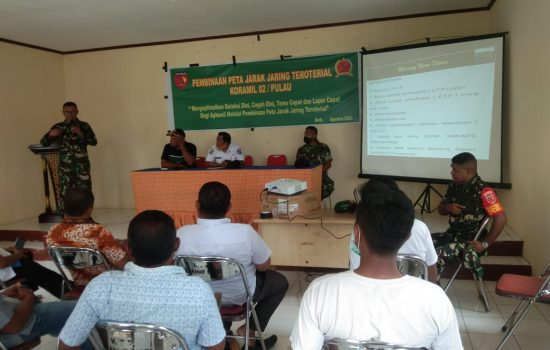 Kunjungi Moti, Danramil Pulau Ternate Sosialisasikan Penerimaan Prajurit TNI