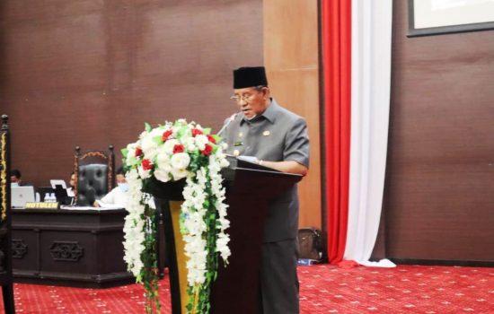 Sampaikan Ranperda 2020, Gubernur Fokus Percepatan Pembangunan Infrastruktur Ibu Kota Provinsi