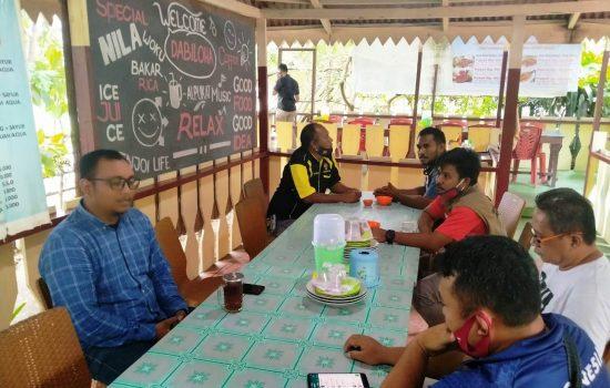 Kasat Reskrim Polres Halut Silaturahmi dengan PWI