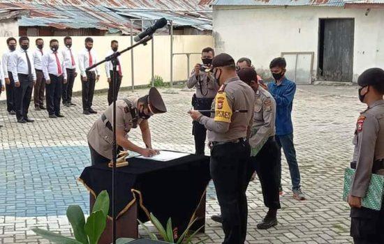 Diserahi Tanggung Jawab Dua Kecamatan, Kapolsek Sulbar Janjikan Profesionalitas