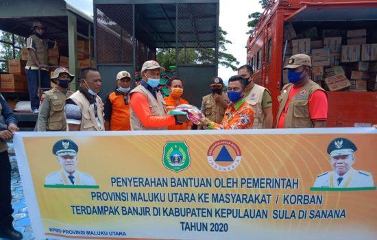 BPBD Malut Distribusikan Bantuan untuk Korban Banjir Sula