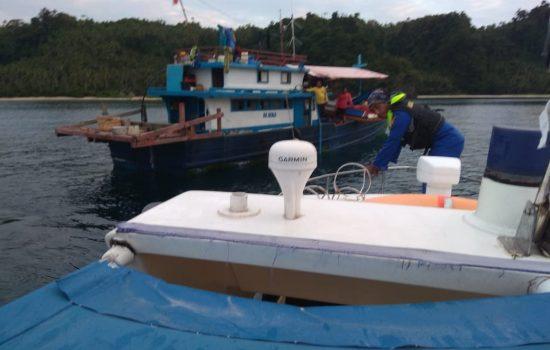 Langgar Fishing Ground, 2 Kapal Sulut Diamankan Polairud Halut
