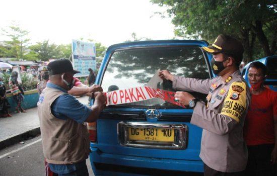 Jurnalis Televisi Malut Sosialisasi 3M dan Bagi Ribuan Masker