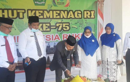 """HAB ke-75, Kemenag Morotai Gelar Upacara Bertemakan """"Indonesia Rukun"""""""