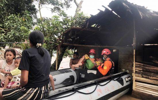 485 Warga Korban Banjir di Halmahera Utara Mengungsi ke Perbukitan