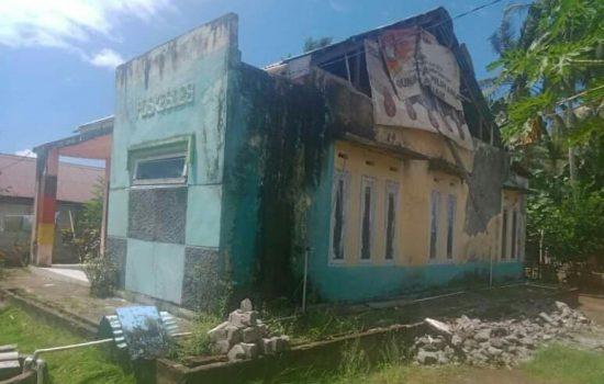 Kerusakan Puskesdes Usbar Pantai, Morotai, Tahun Ini Diperbaiki