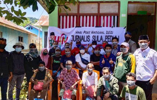 Jurnalis Sula Peringati Hari Pers dengan Aksi Sosial