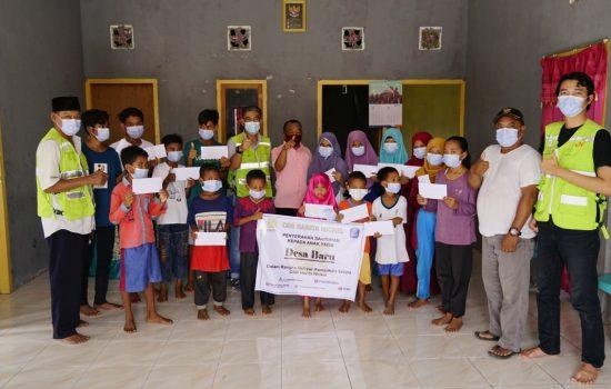 Jelang Idul Fitri, Harita Santuni Anak Yatim di 8 Desa